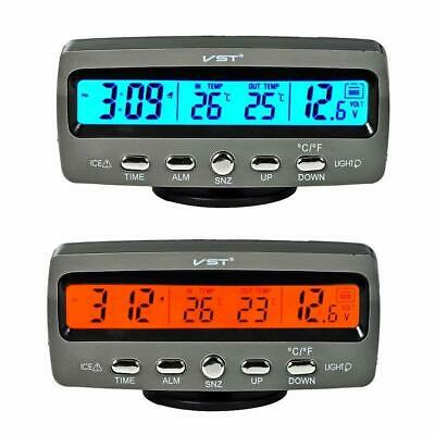 4In1 Car 12V Digital Display LED Voltmeter Voltage Temperature Clock Thermometer
