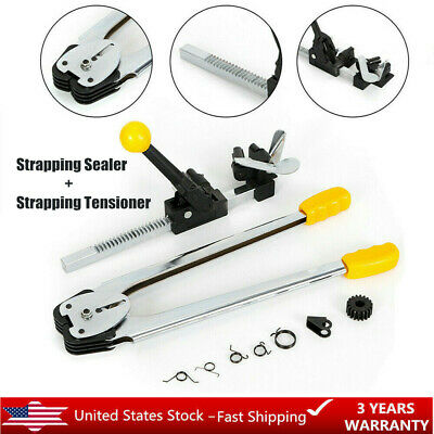 Strapping Banding Tool Machine Tensioner Crimper Set Sealer Packaging Poly Usa