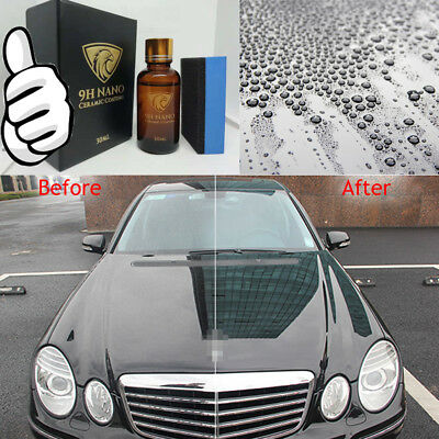 Liquid Glass 9H Nano Hydrophobic Ceramic Coating Car Polish Anti-scratch Auto #W, used for sale  Shipping to Canada