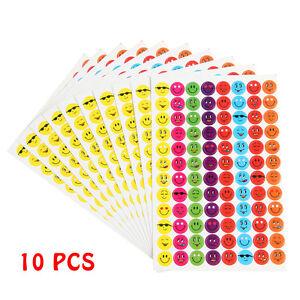 960 School Children Smiley Face Reward Stickers Teacher Aid Potty Training Chart