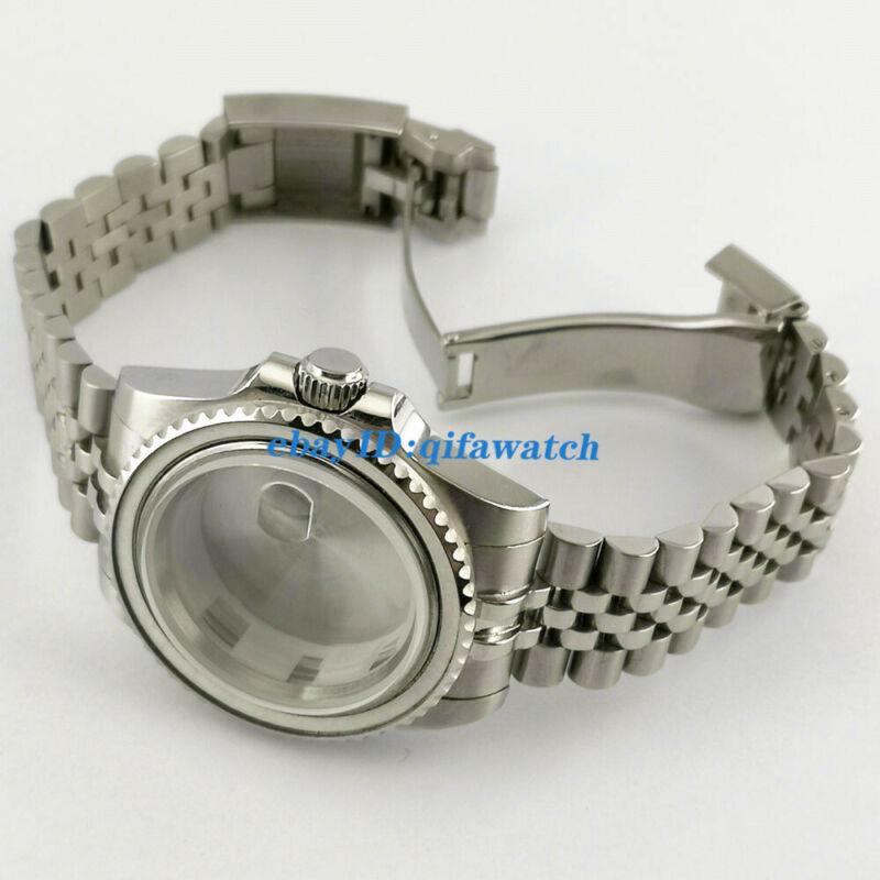 40mm Watch Case Jubilee Bracelet Fit ETA 2836,DG2813/3804,Miyota 8215 821A