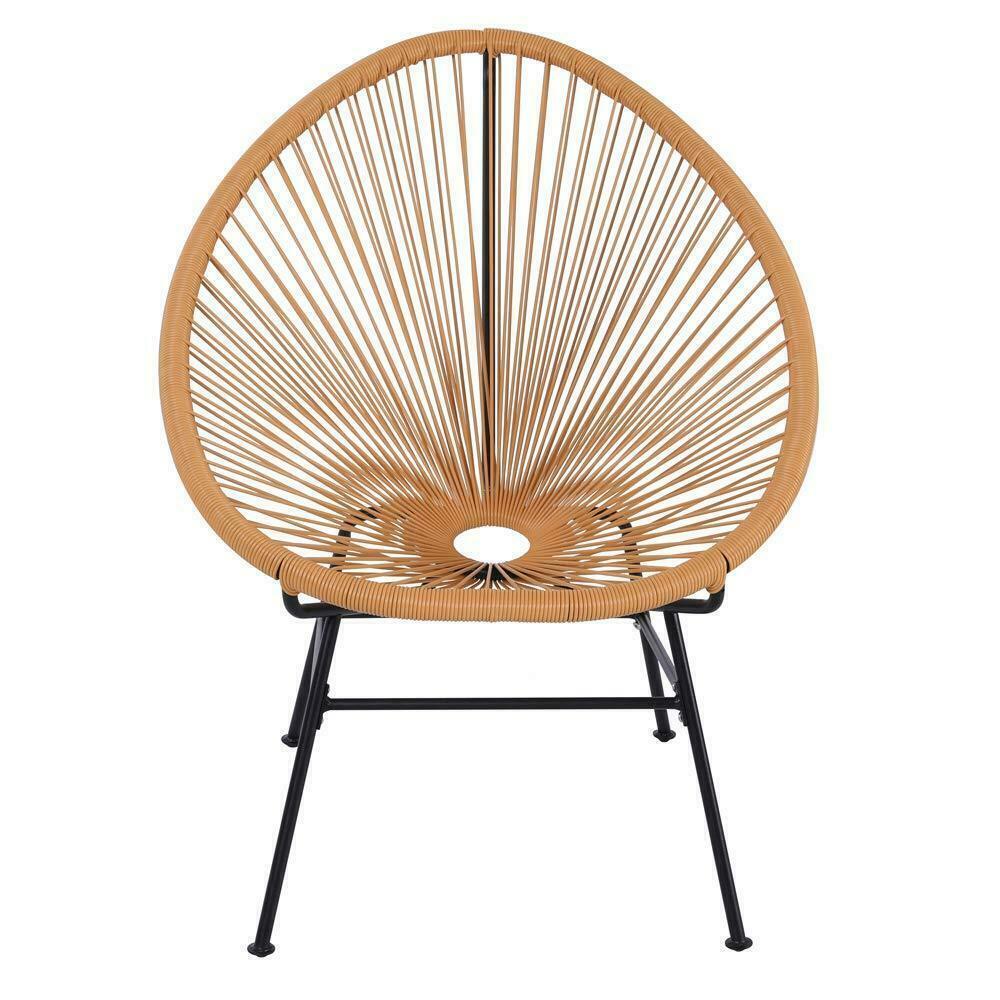 Phenomenal Set Of 2 All Weather Oval Weave Lounge Patio Acapulco Papasan Chair Orange Creativecarmelina Interior Chair Design Creativecarmelinacom