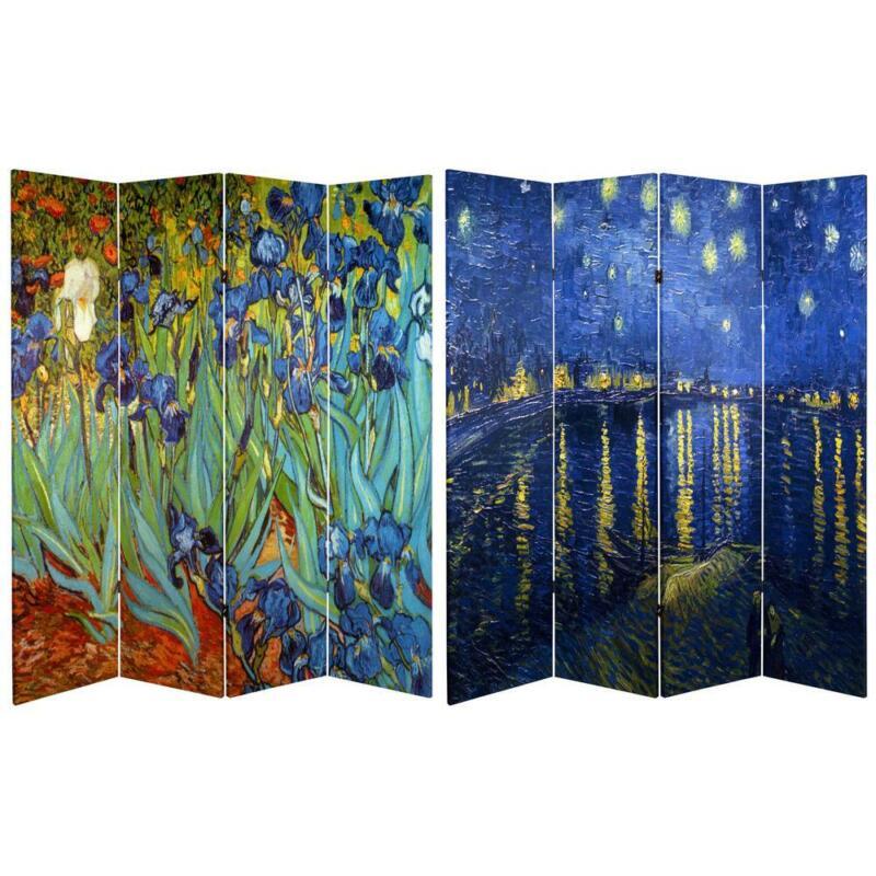 Oriental Furniture Room Divider 6-Ft 4-Panel Printed