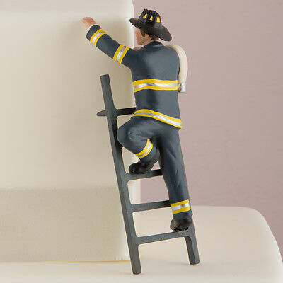 Firefighter Cake Topper (Fireman Groom Cake Topper Wedding Gift Firefighter COLOR CUSTOMIZATION)