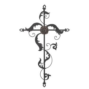 Large Decorative BAROQUE METAL WALL CROSS