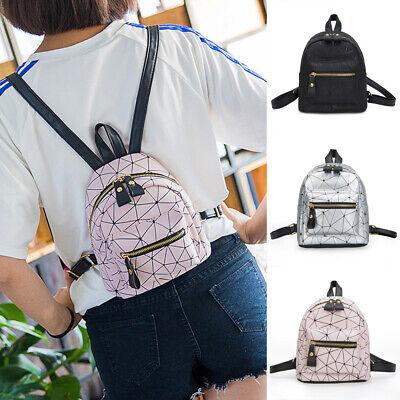 Women Backpack Travel PU Handbag Girls Rucksack Mini Shoulder Tote School Bag US ()