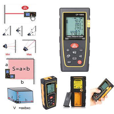 100M 328ft  Handheld Digital Laser Distance LCD Meter Range Finder Measure Tape