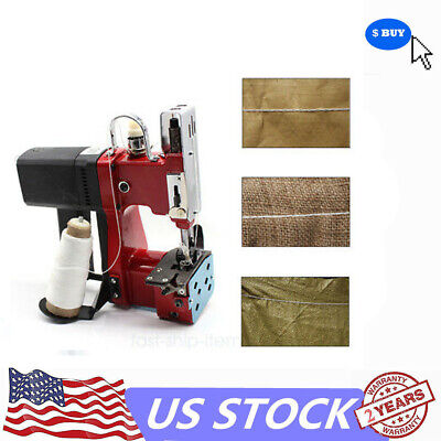 110v 190w Electric Bag Stitching Sack Closer Sealing Sewing Portable Machine Usa