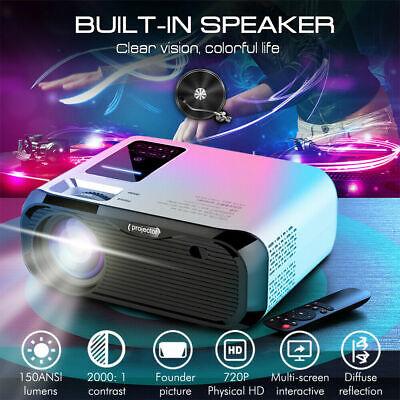 HD 1080P 5000 Lumens LCD LED Projector Home 3D Theater TV Home USB HDMI AV VGA