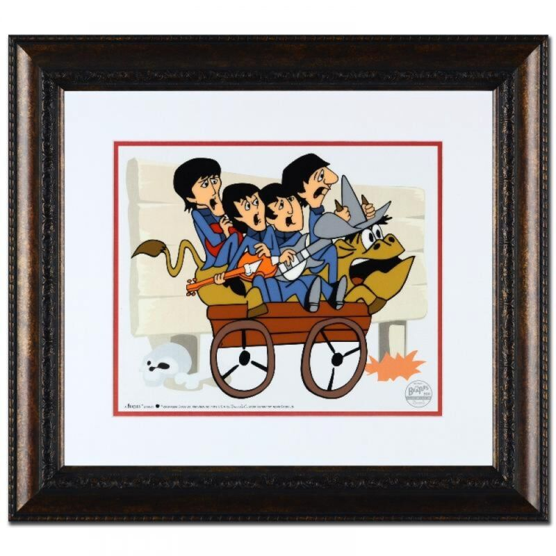 """The Beatles Bull Ride"" Limited Edition Sericel Framed with COA"