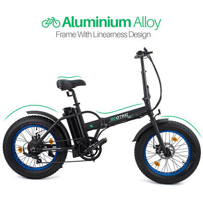 "ECOTRIC 20"" 500W 12Ah Folding Electric Bicycle e-Bike Fat tire Pedal Assist New"