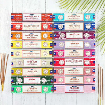 Satya, Golden Tree, Vedic, Genuine  Incense Sticks  various scents / Brands