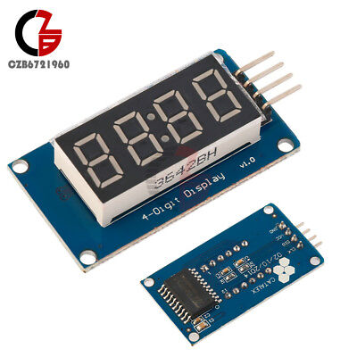 10pcs 4 Bits Tube Led Display Module With Clock Display Tm1637 For Arduino
