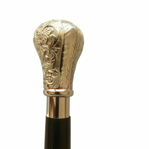 Gentlemens+Classic+2+Fold+Wooden+Walking+Stick+Cane+Nickel+Finish+Handle+Gift
