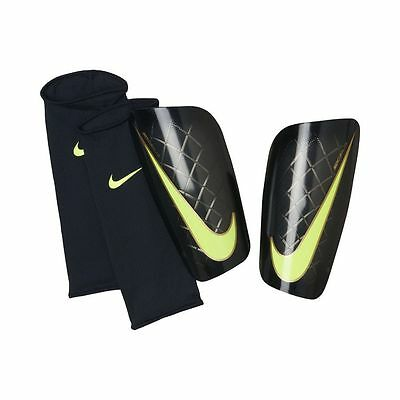 NEW Nike Mercurial Lite Shin Guard Pads Soccer Adult Medium Futbol Black Green
