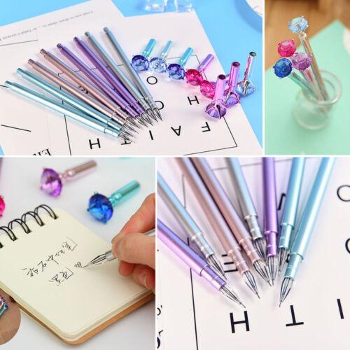 Coloful Diamond Pen Creative Big Crystal Ballpoint Pens Stationery Office Supply