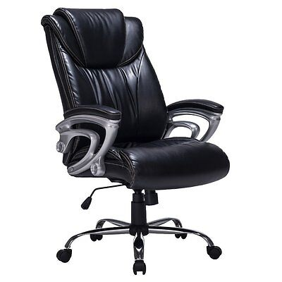 Heavy Duty High Back Bonded Leather Thick Padded Office Chair Swivel Mechanism
