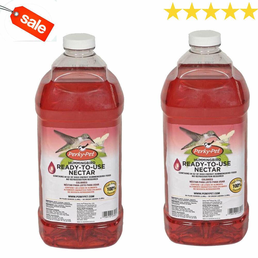 Perky Pet Hummingbird Liquid Nectar 64 Oz