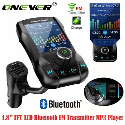 Auto KFZ Bluetooth FM Transmitter Freisprecheinrichtung MP3 Player USB SD AUX DE