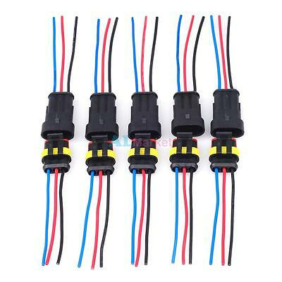 5 Kit Waterproof Acdc Power Femalemale 3 Pin 3 Way Cable Connector Awg Marine