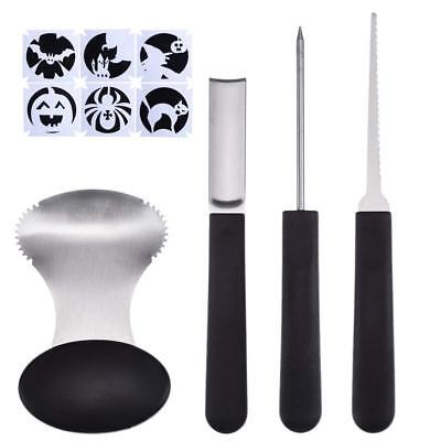 Pumpkin Carving Tool - Antner Pumpkin Carving Tools Kit, 4 Piece Heavy Duty Stainless Steel Tool and 6