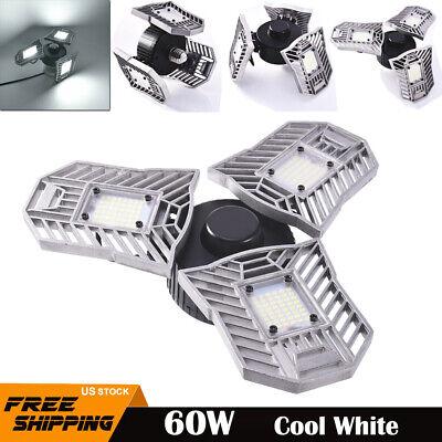 Best Garage Lights Led Shop Utility Ceiling 60W 80W Deformable 6000K Daylight
