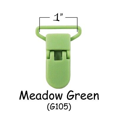 "50 Suspender Clips / Plastic Pacifier KAM Clips - 1"" Meadow Green - Plus Instruc for sale  Hollywood"