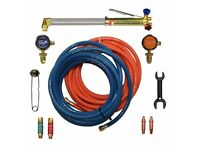 New Contractors Gas Welding Cutting Kit and Gas Bottle Regulator Oxygen & Propane Portable Se