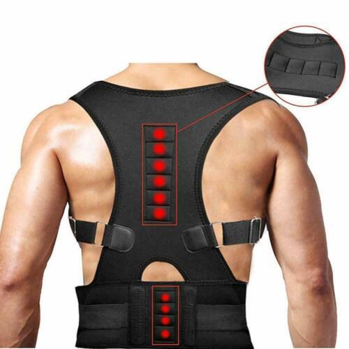 Posture Corrector Support Magnetic Back Shoulder Brace Belt Band For Men Women Health & Beauty