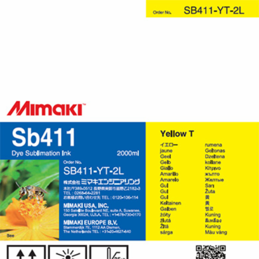 Mimaki Sb411 Dye Sublimation Ink Pack 2000ml 2L Yellow T For TS300P-1800 Printer - $25.00