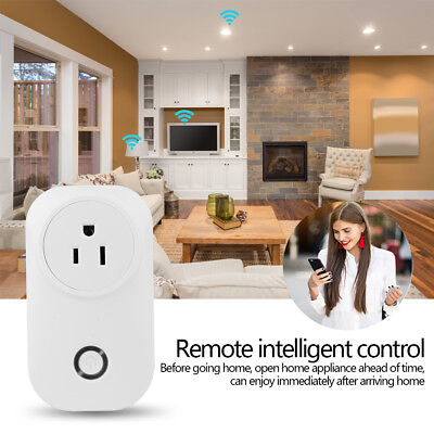 US Plug Home WiFi Smart Power Socket Wireless Remote Control Timer Switch Outlet