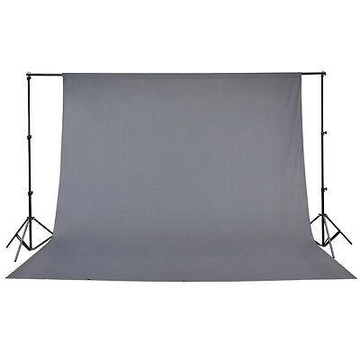 10 x 10ft Gray Muslin Backdrop 100% Cotton Photography Background Photo Studio