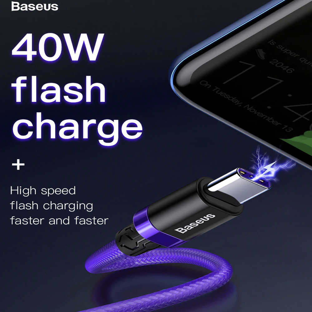 Samsung Galaxy S10 Plus S9 Note 9 USB Type-C 40W 5A Charging