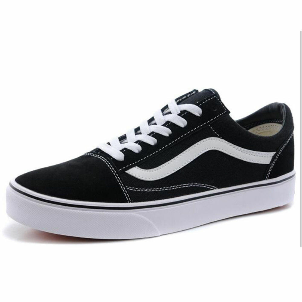 dfbbf2116f Details about VAN Classic OLD SKOOL Low Top Casual Canvas Sneakers For Mens  Womens Shoes