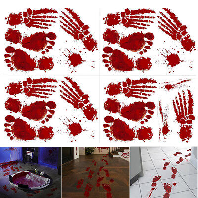 Bloody Footprints Floor Clings Halloween Vampire Zombie Party Decor Stickers Hot