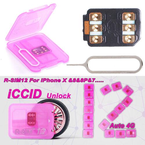 RSIM 12 Newest R-SIM Nano Unlock Card for iPhone X/8/7/6/6S/5 LTE 4G ios 10 11
