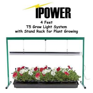 New iPower 54W 4 Feet T5 Grow Light System with Stand Rack for Plant Growing, 6400K Condtion: New Might be missing an...