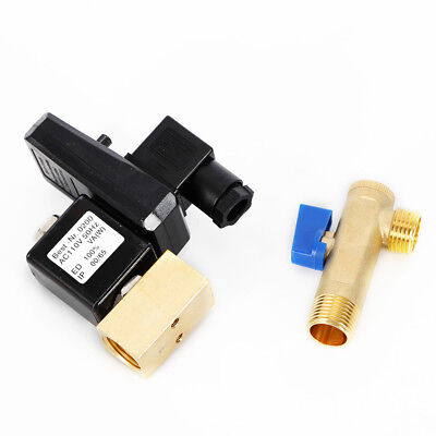 Electronic Timed Air Compressor Automatic 2-way Drain Valve Ac 110v 12 Us Ship
