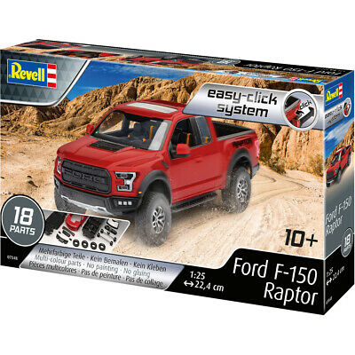 Revell Easy-Click System Ford F-150 Raptor Pickup Truck Model Kit (Scale 1:25)