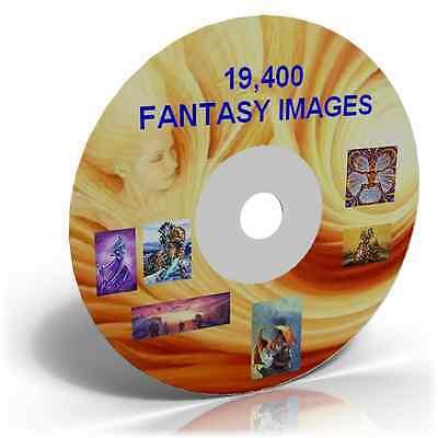 19,400 Fantasy Images on DVD, Cardmaking, Crafts CD
