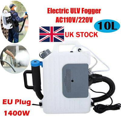 10L 1400W Electric UlV Sprayer Fogger Cold Fog CDC Hospital Station Disinfection