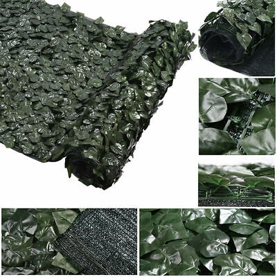 1m x 3m Artificial Ivy Leaf Hedge Fence Privacy Screen Panel Roll Mesh Back Yard