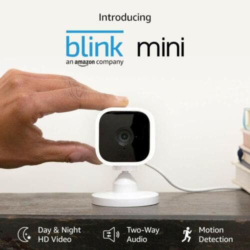 Blink Mini – Compact indoor plug-in smart security camera, 1080 HD - 1 Camera