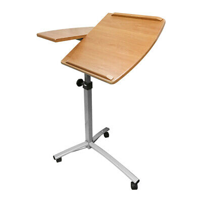 26-40 Adjustable Angle Height Rolling Laptop Desk Cart Hospital Table Stand