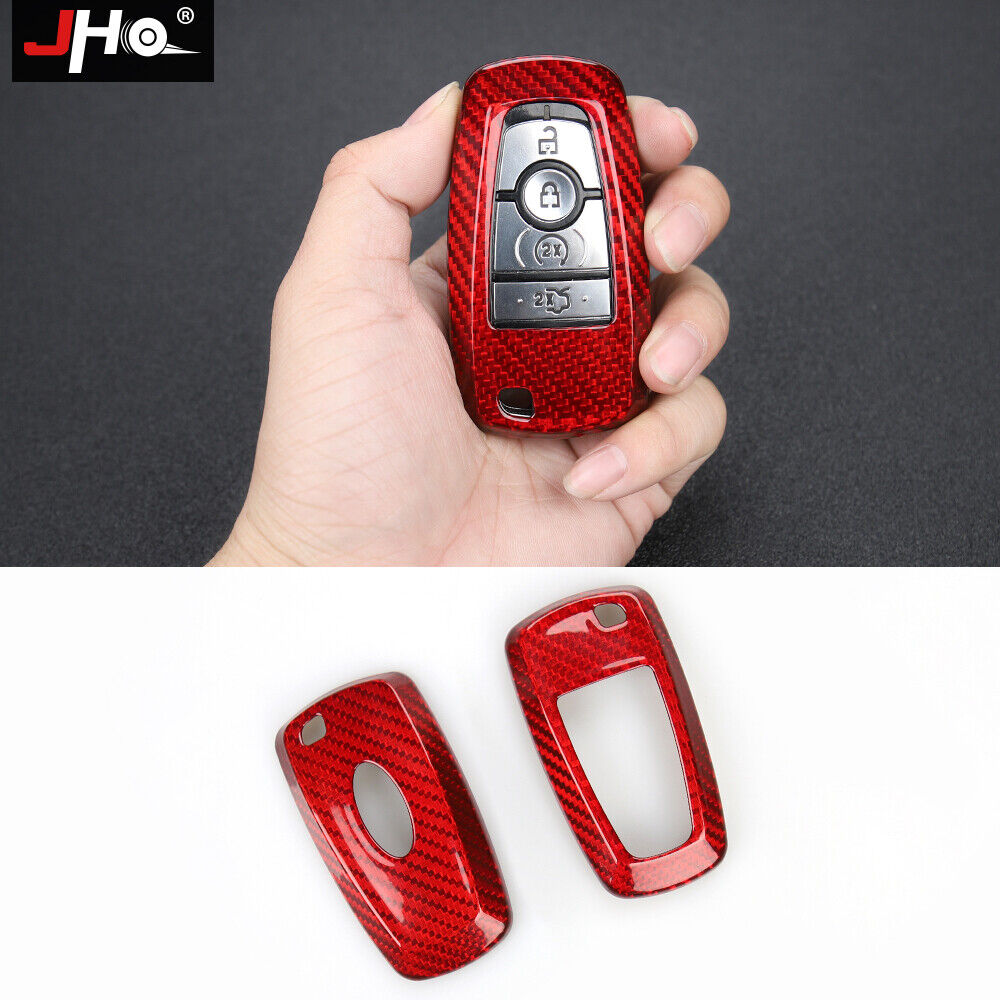 Real Carbon Fiber Remote Key Fob Shell Case For 2018 Ford Explorer EDGE Mustang