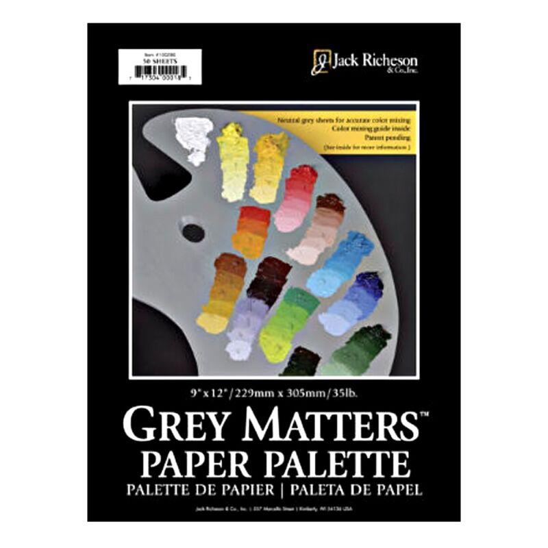 Grey Matters Paper Palette 9X12 50 Sheets