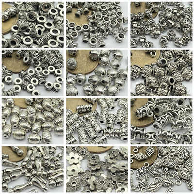- 50pcs Tibetan Silver Metal Alloy Charms Loose Spacer Beads Jewelry Making DIY