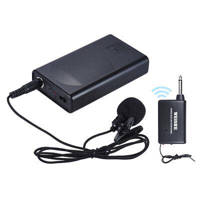 Portable Lavalier Lapel Collar Clip-on Wireless Microphone Voice Amplifier