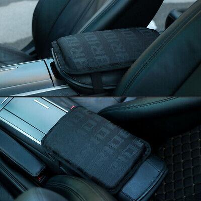 JDM BRIDE BLACK Fabric Car Armrest Pad Cover Center Console Box Cushion Mat