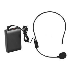 Portable WM-101A FM Wireless Microphone Headset System Voice Amp Amplifier A4J0